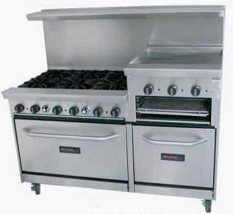 fddc3c4395d Tri-Star TSR-RG24-6 6 Burner Range With 24