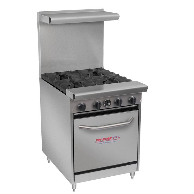Tri Star Tsr 4 4 Burner Restaurant Series Range Chefs Corner  E2 80 A2 Flanders Nj