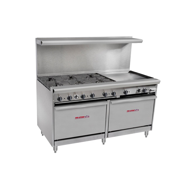 5b7ca190170 Tri-Star TSR-G24-6 6 Burner Restaurant Series Range With 24