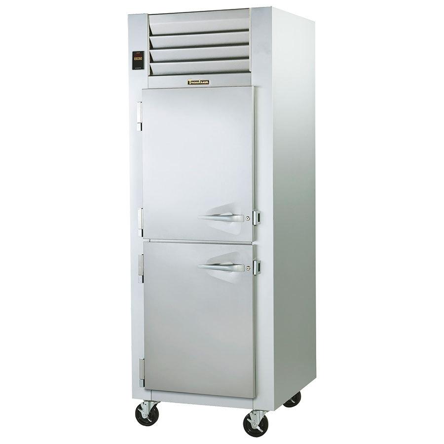 Traulsen g12001 one section freezer half height doors for 1 door freezer