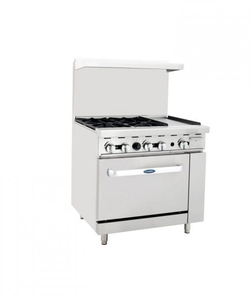 Atosa ATO-4B12G 4 Burner Gas Range with Oven and Griddle