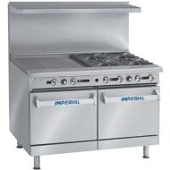 "IR-6-G24 Imperial 6 Burner Range with 24"" Griddle"