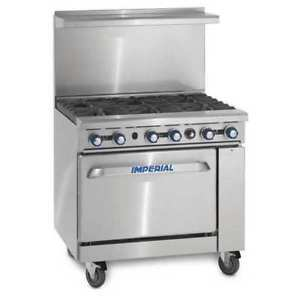 Imperial IR-6-C Range with Convection Oven
